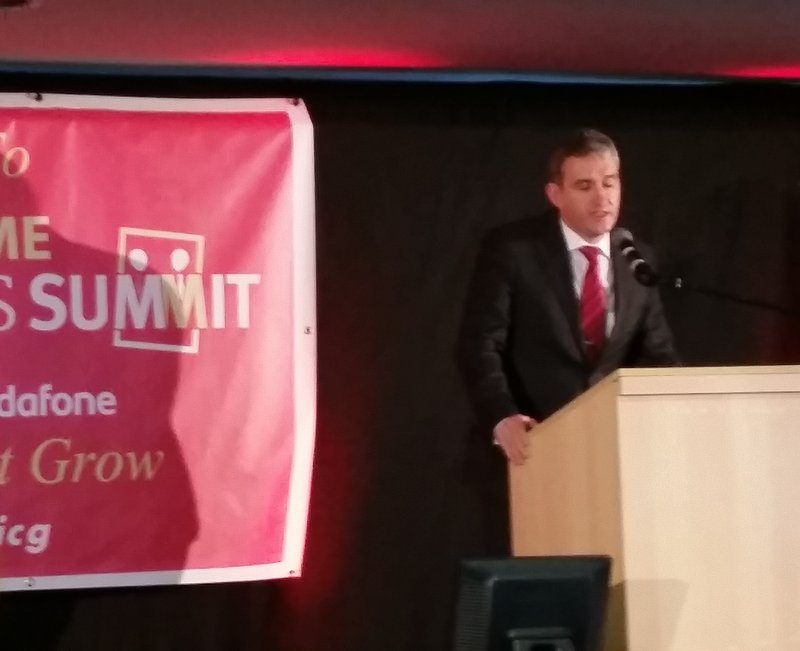 TD Tom Barry  at Munster Business Summit