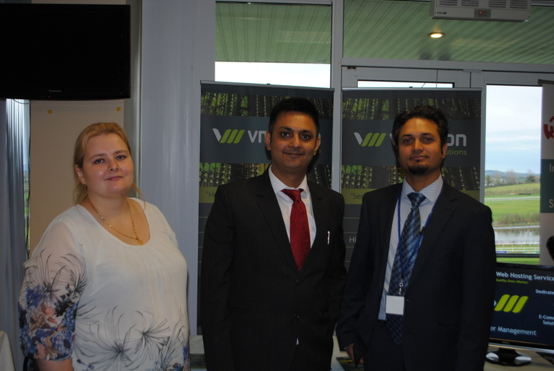 Kapil Khanna and VMotion IT Solutions Team at Munster Business  Summit